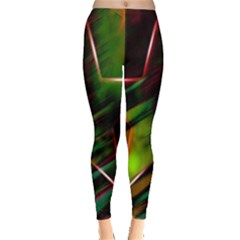 Colorful Background Star Leggings  by Simbadda