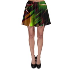 Colorful Background Star Skater Skirt by Simbadda