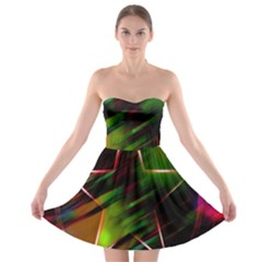 Colorful Background Star Strapless Bra Top Dress
