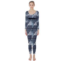 Snow Peak Abstract Blue Wallpaper Long Sleeve Catsuit