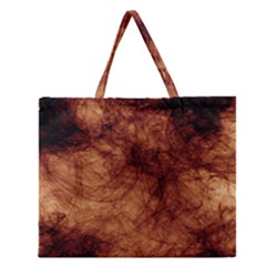 Abstract Brown Smoke Zipper Large Tote Bag by Simbadda