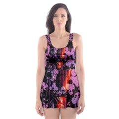 Abstract Painting Digital Graphic Art Skater Dress Swimsuit by Simbadda