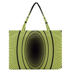 Spiral Tunnel Abstract Background Pattern Medium Zipper Tote Bag by Simbadda