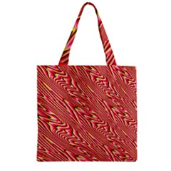 Abstract Neutral Pattern Zipper Grocery Tote Bag by Simbadda