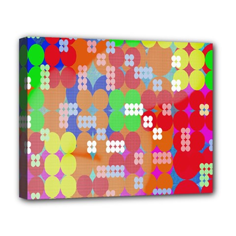 Abstract Polka Dot Pattern Digitally Created Abstract Background Pattern With An Urban Feel Deluxe Canvas 20  X 16   by Simbadda