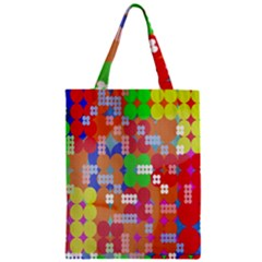Abstract Polka Dot Pattern Digitally Created Abstract Background Pattern With An Urban Feel Zipper Classic Tote Bag