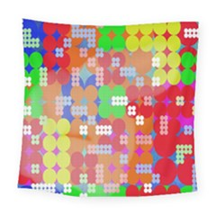Abstract Polka Dot Pattern Digitally Created Abstract Background Pattern With An Urban Feel Square Tapestry (large) by Simbadda
