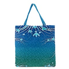 Floral 2d Illustration Background Grocery Tote Bag by Simbadda