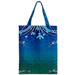 Floral 2d Illustration Background Zipper Classic Tote Bag by Simbadda