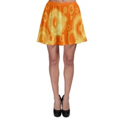 Retro Orange Circle Background Abstract Skater Skirt by Nexatart