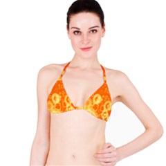Retro Orange Circle Background Abstract Bikini Top by Nexatart