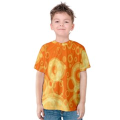 Retro Orange Circle Background Abstract Kids  Cotton Tee by Nexatart