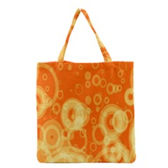 Retro Orange Circle Background Abstract Grocery Tote Bag by Nexatart