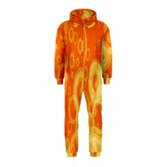 Retro Orange Circle Background Abstract Hooded Jumpsuit (Kids)