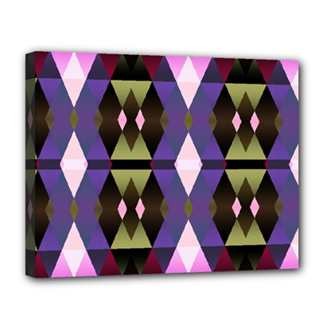 Geometric Abstract Background Art Canvas 14  X 11  by Nexatart