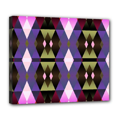 Geometric Abstract Background Art Deluxe Canvas 24  X 20   by Nexatart