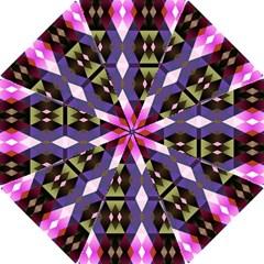 Geometric Abstract Background Art Hook Handle Umbrellas (small) by Nexatart