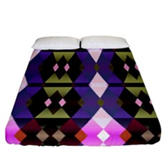 Geometric Abstract Background Art Fitted Sheet (california King Size) by Nexatart