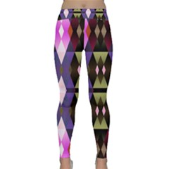 Geometric Abstract Background Art Classic Yoga Leggings