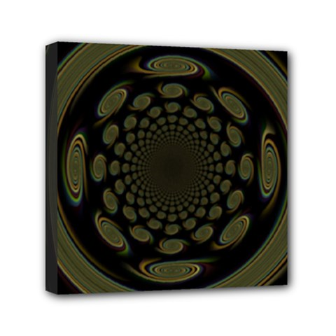 Dark Portal Fractal Esque Background Mini Canvas 6  X 6  by Nexatart