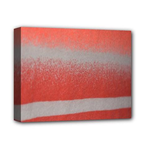 Orange Stripes Colorful Background Textile Cotton Cloth Pattern Stripes Colorful Orange Neo Deluxe Canvas 14  X 11  by Nexatart