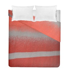 Orange Stripes Colorful Background Textile Cotton Cloth Pattern Stripes Colorful Orange Neo Duvet Cover Double Side (full/ Double Size) by Nexatart