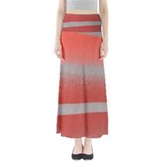 Orange Stripes Colorful Background Textile Cotton Cloth Pattern Stripes Colorful Orange Neo Maxi Skirts by Nexatart