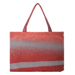 Orange Stripes Colorful Background Textile Cotton Cloth Pattern Stripes Colorful Orange Neo Medium Tote Bag by Nexatart
