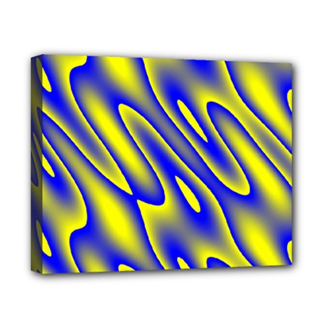 Blue Yellow Wave Abstract Background Canvas 10  X 8