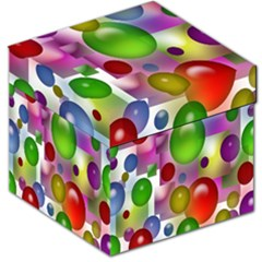 Colored Bubbles Squares Background Storage Stool 12   by Nexatart