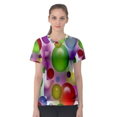 Colored Bubbles Squares Background Women s Sport Mesh Tee by Nexatart