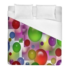 Colored Bubbles Squares Background Duvet Cover (full/ Double Size)
