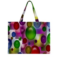 Colored Bubbles Squares Background Medium Zipper Tote Bag by Nexatart
