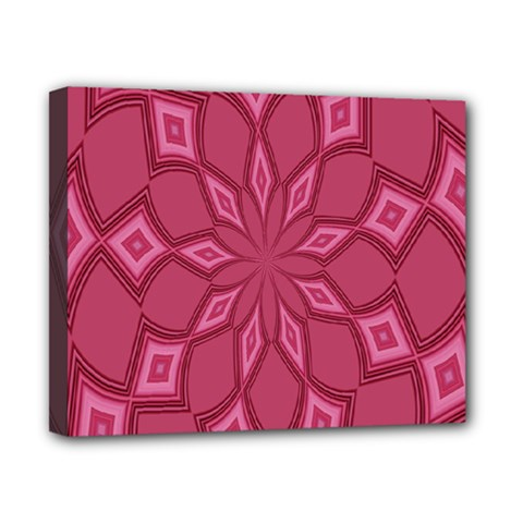 Fusia Abstract Background Element Diamonds Canvas 10  X 8