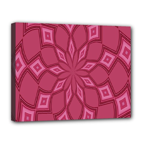 Fusia Abstract Background Element Diamonds Canvas 14  X 11  by Nexatart