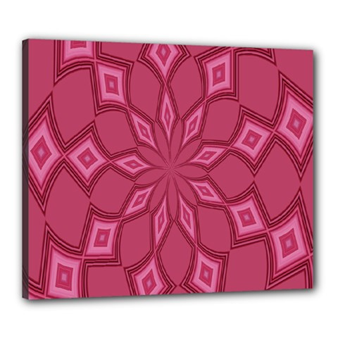 Fusia Abstract Background Element Diamonds Canvas 24  X 20  by Nexatart