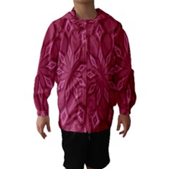 Fusia Abstract Background Element Diamonds Hooded Wind Breaker (kids)