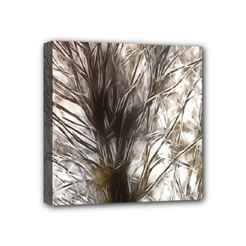 Tree Art Artistic Tree Abstract Background Mini Canvas 4  X 4  by Nexatart