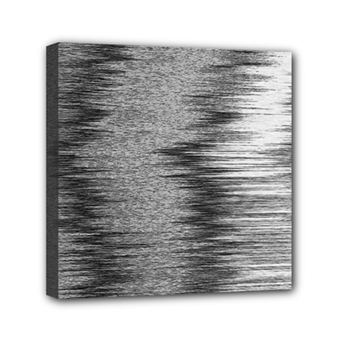 Rectangle Abstract Background Black And White In Rectangle Shape Mini Canvas 6  X 6  by Nexatart
