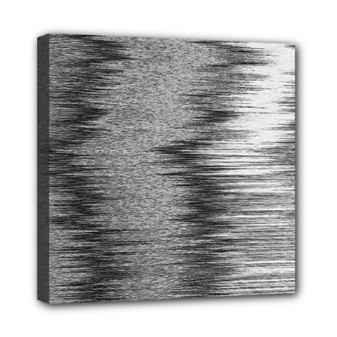 Rectangle Abstract Background Black And White In Rectangle Shape Mini Canvas 8  X 8  by Nexatart