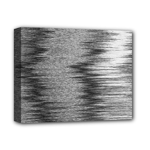 Rectangle Abstract Background Black And White In Rectangle Shape Deluxe Canvas 14  X 11