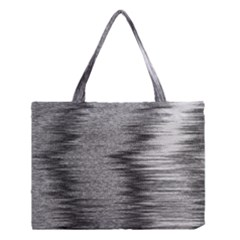 Rectangle Abstract Background Black And White In Rectangle Shape Medium Tote Bag by Nexatart