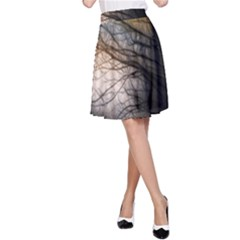 Tree Art Artistic Abstract Background A Line Skirt