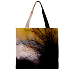 Tree Art Artistic Abstract Background Zipper Grocery Tote Bag by Nexatart