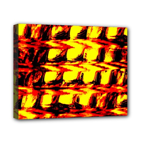 Yellow Seamless Abstract Brick Background Canvas 10  X 8  by Nexatart