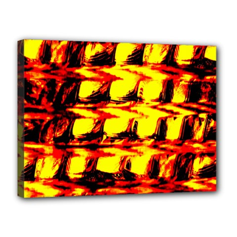 Yellow Seamless Abstract Brick Background Canvas 16  X 12  by Nexatart