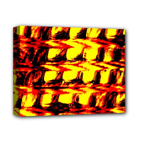 Yellow Seamless Abstract Brick Background Deluxe Canvas 14  X 11  by Nexatart
