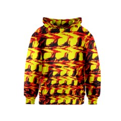 Yellow Seamless Abstract Brick Background Kids  Pullover Hoodie