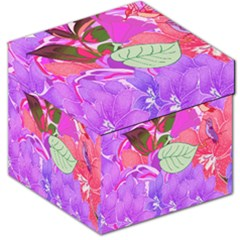 Abstract Design With Hummingbirds Storage Stool 12