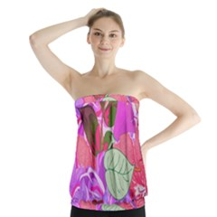 Abstract Design With Hummingbirds Strapless Top by Nexatart